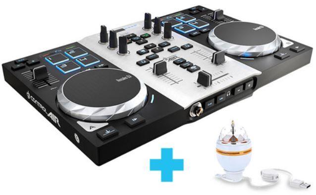 Hercules DJ Control Air S DJ Controller für 65,90€ (statt 119€) + gratis USB Partylampe