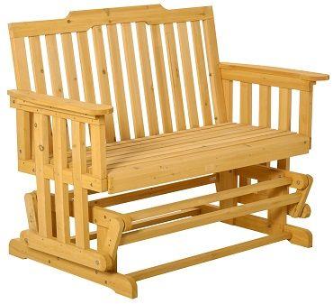 Outsunny 2 Sitzer Schaukelstuhl mit Armlehne aus Massivholz für 107,99€ (statt 121€)
