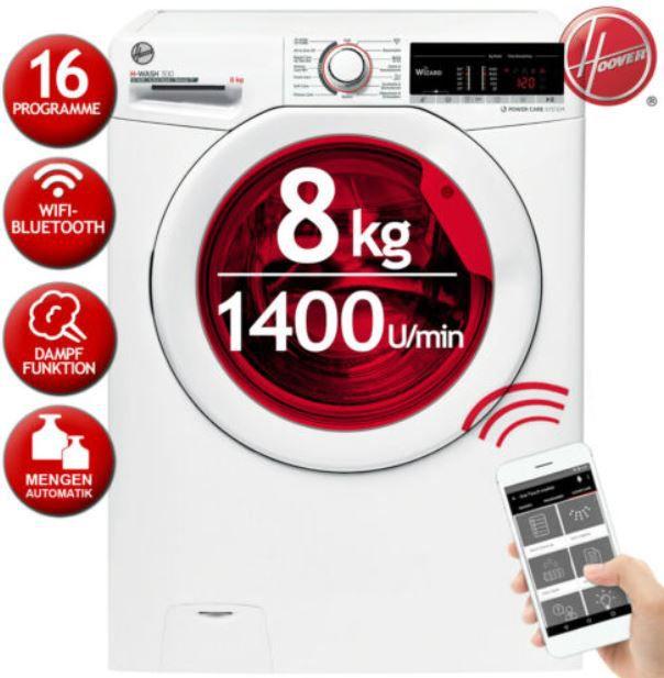 Hoover H3WSQ 483TAE-84 Waschmaschine 8 kg 1400 U/min für 289,90€ (statt 350€)