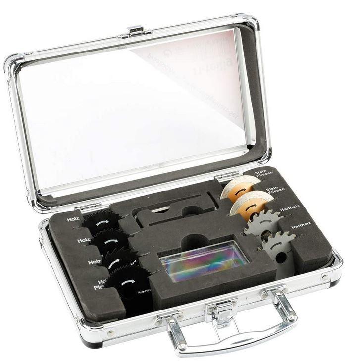 MK Mini Kreissägeblattset 11teilig im Koffer für 12,89€ (statt 20€)