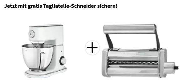 WMF Profi Plus Küchenmaschine + Profi Plus Tagliatelle Schneider für 289,99€ (statt 444€)