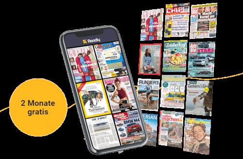 Readly eMagazin Flatrate 2 Monate gratis ausprobieren (statt 20€)