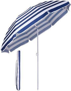 Sekey Sonnenschirm mit  160 cm Durchmesser und Sonnenschutz UV20+ für 15,78€ (statt 20€)