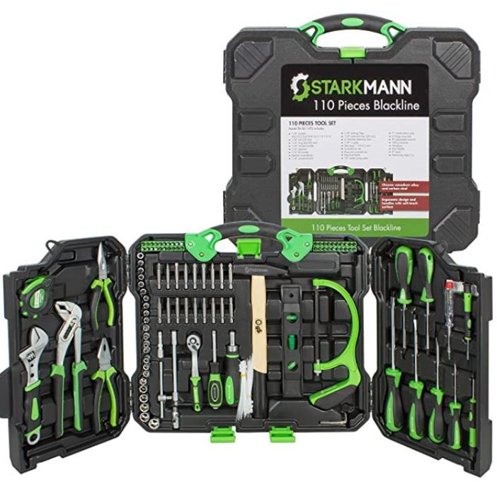 Starkmann Blackline Werkzeugkoffer mit 110 Teilen für 49,99€ (statt 80€)