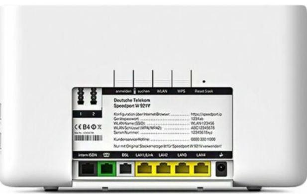 Telekom W921V Speedport VDSL Gbit Router (gebraucht) für 9,99€ (statt 14€)