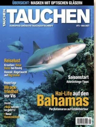 12 Ausgaben vom Tauchen Magazin für 96€ + Prämie 75€ Scheck