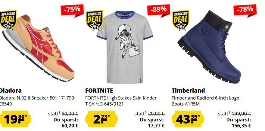 SportSpar HOT DEALS: z.B. Timberland Radford 6 inch Logo Boots für 43,55€ (statt 85€)