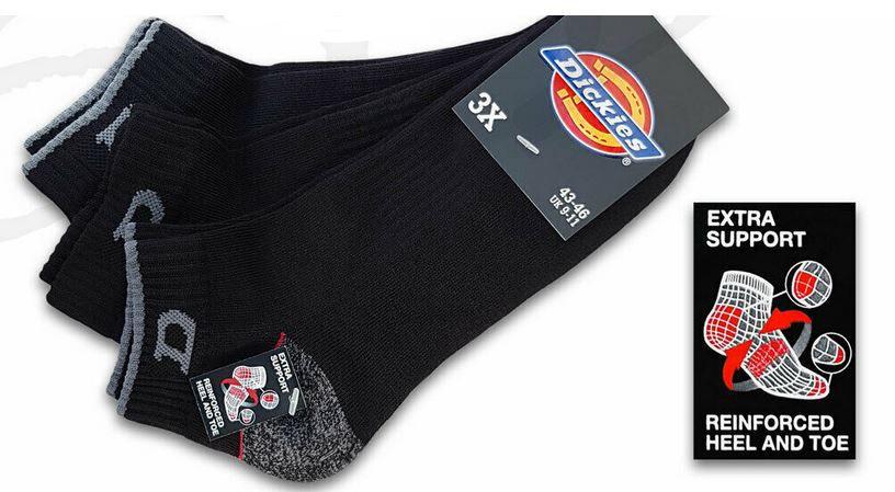 Dickies Arbeits Sneaker Socken im 12 Pack für 27,50€ (statt 33€)
