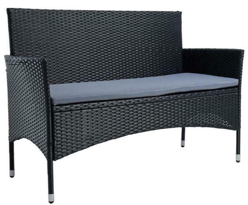 Estexo Polyrattan 2 Sitzer Gartenbank mit Sitzkissen für 89,95€ (statt 100€)