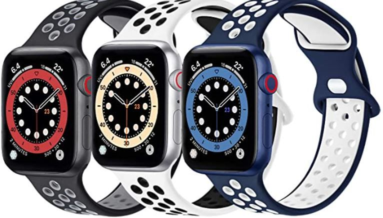 FENGLIN Silikon Sportarmband für Apple Watch je 6,40€ (statt 16€)