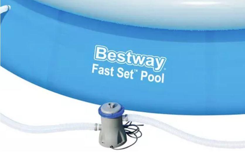 Bestway Mitch Schwimmbecken Ø 366cm mit Filterpumpe für 55,93€ (statt 86€)