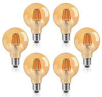 6er Pack: ONIVIB LED Edison Glühbirne (8W & E27) für 25,89€ (statt 37€)