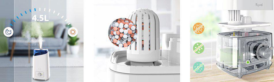 KYVOL HD3 Luftbefeuchter mit 4,5L für bis zu 40m² für 34,99€ (statt 50€)