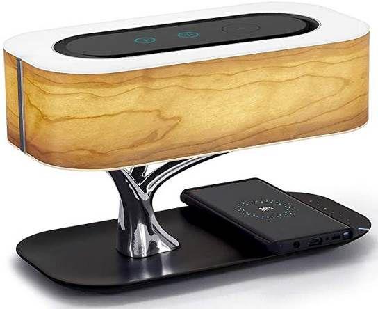 Masdio Light of Tree Nachttischlampe mit BT Lautsprecher inkl. Qi Ladeschale für 93,59€ (statt 150€)