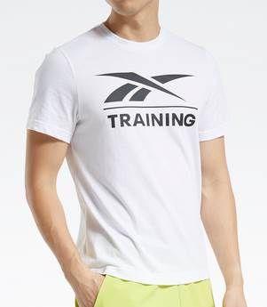 Reebok Training T Shirt in Weiß für 12,40€ (statt 17€)   XS bis 2XL