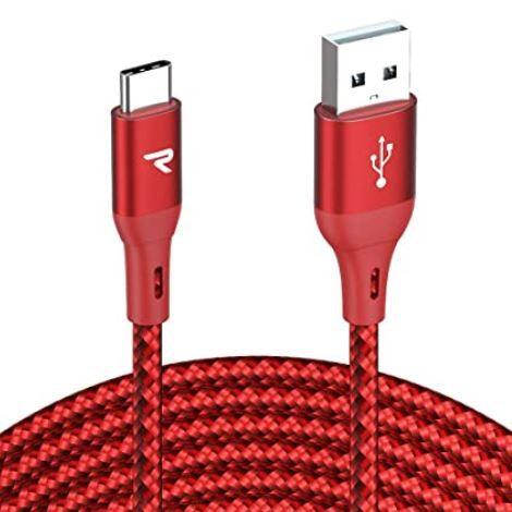 RAMPOW USB-C Ladekabel auf USB 2.0 3 Meter in Rot für 3,49€ (statt 7€) – Prime