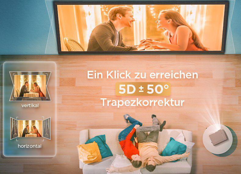 Bomaker Parrot 1   1080p LED Beamer mit 4K Support & 7.200 Lumen für 159,99€ (statt 210€)
