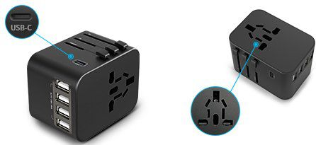 Universal Reiseadapter mit 4 USB Ports & 5.6A Fast Charge für 8,49€ (statt 17€)   Prime