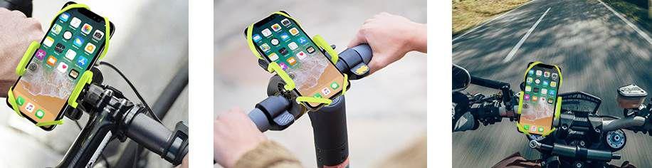 Fahrrad Handyhalterung mit 360° Drehung für 4,50€   Prime