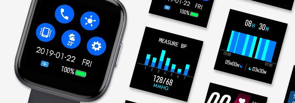 FOROPIOLY Smartwatch mit Herzfrequenzmessung & GPS für 27,19€ (statt 46€)