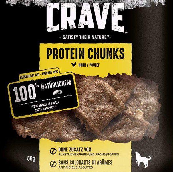 12 Beutel Crave Hundesnacks Protein Chunks mit 100% natürlichem Hauptbestandteil für 6,99€ (statt 24€) – MHD 03/2021