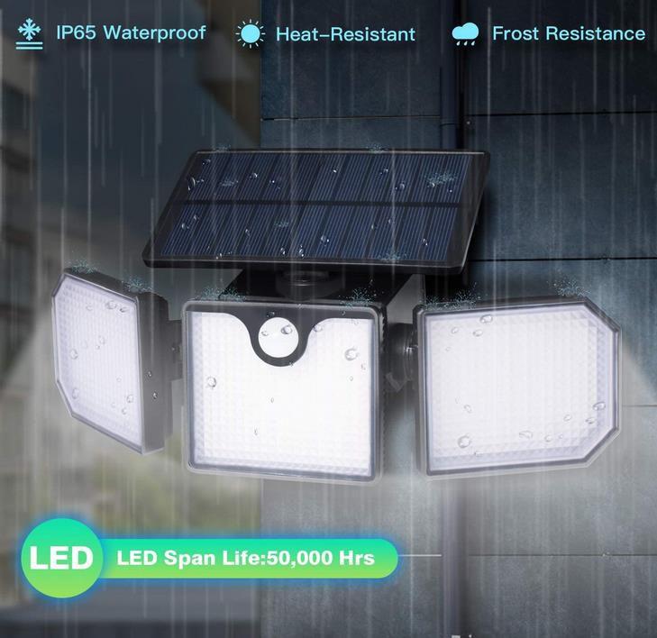 TEQStone LED Außen Solarlampe für 17,49€ (statt 25€)