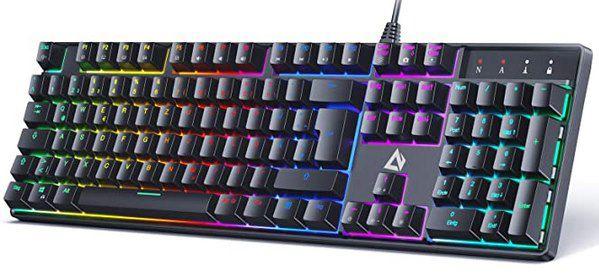Aukey KM G16 mechanische Gaming Tastatur mit LED Hintergrundbleleuchtung für 34,99€ (statt 44€)