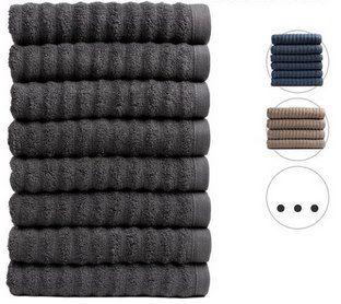 8x Seashell Handtuch (50 x 100 cm, 500 g/m²)  Premium Wave Collection in 7 Farben für je 25,90€ (statt 40€)