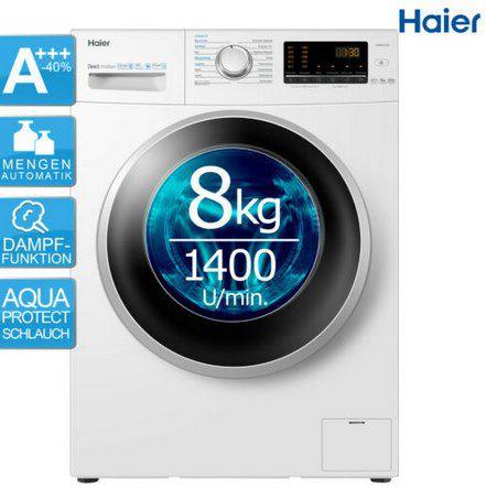 Haier HW80 B1439 Waschmaschine mit 8kg, Dampffunktion & AquaProtec für 299,90€ (statt 434€)