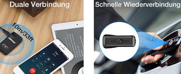 Mpow BH129BB Bluetooth 5.0 Empfänger für 11,55€ (statt 15€)   Prime