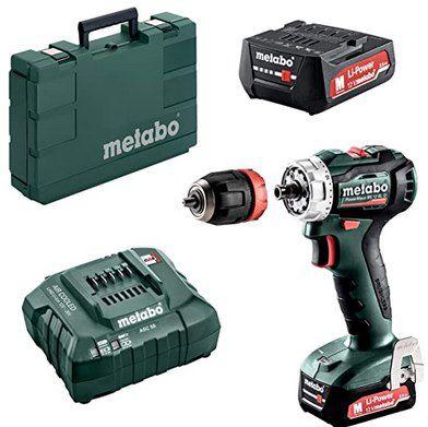 Metabo PowerMaxx BS 12 BL Q Akku-Bohrschrauber mit 2x 2Ah Akku, Ladegerät & Koffer für 116,95€ (statt 140€)