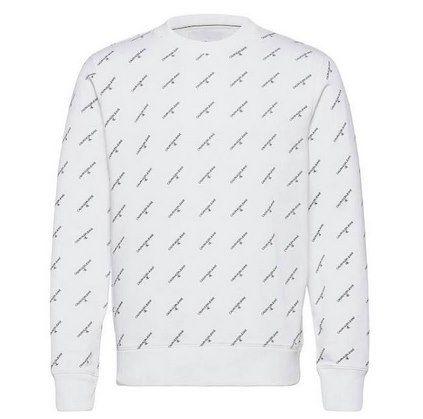 Calvin Klein Sweatshirt aus Bio-Baumwolle mit durchgehendem Logo für 55,92€ (statt 69€) – nur S, M & L