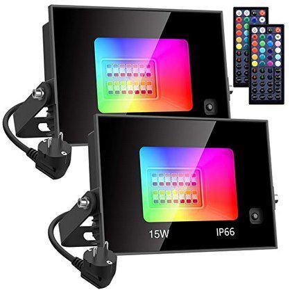 2er Pack: 15W RGB Außenstrahler mit 20 Farben & 6 Modi für 15,29€ (statt 25€) – Prime