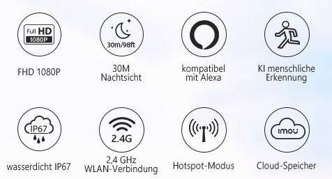 imou Bullet 2C 1080p Außenkamera mit 30m Nachtsicht für 29,99€ (statt 36€)