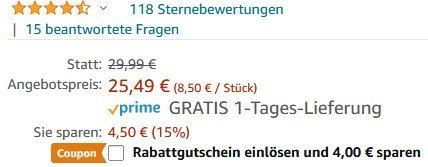 3er Pack: meross MSS210 WLAN Steckdose für bis zu 16A für 19,49€ (statt 30€)