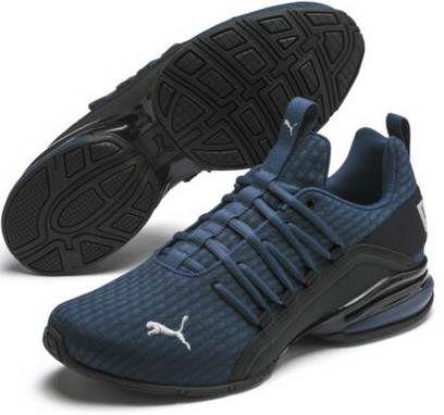 Puma Axelion Block Laufschuh in Schwarz oder Blau für je 52€ (statt 78€)   bis 48.5