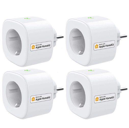 4er Pack: meross WLAN Steckdose mit Apple HomeKit & 16A für 47,99€ (statt 70€)