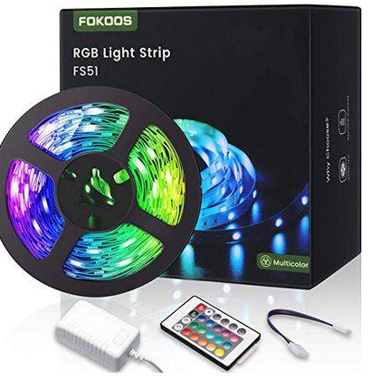 FOKOOS 5m LED Streifen inkl. Fernbedienung für 9,99€ (statt 16€)   Prime