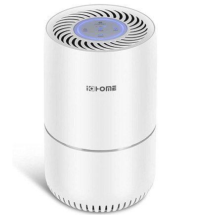 i@HOME Luftreiniger mit H13 HEPA Aktivkohlefilter bis zu 20m² für 39,59€ (statt 66€)