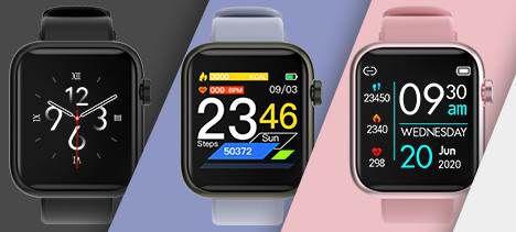 INIUPO Smartwatch mit Fitnesstracker & Herzfrequenzmonitor in 3 Farben für je 18,89€ (statt 35€)
