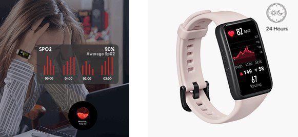 HONOR Band 6 Fitnesstracker mit AMOLED Touchscreen, SpO2  & Herzfrequenzmesser für 35,99€ (statt 40€)