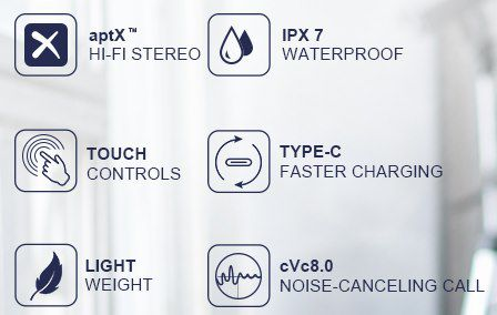 Hadisala K5   Bluetooth 5.2 TWS InEar Kopfhörer mit AptX & IPX7 für 17,49€ (statt 35€)