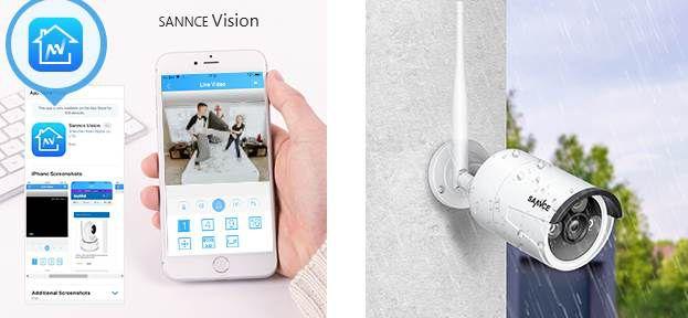 SANNCE 3MP 8CH Wireless NVR + 4x3MP WLAN Außenkameras für 130€ (statt 160€)