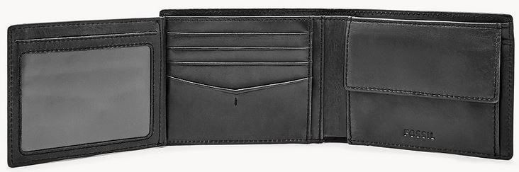 Fossil Herren Leder Geldbörse Allen mit RFID in Schwarz oder Braun für 19,04€ (statt 42€)