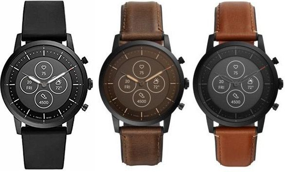 Fossil Hybrid Smartwatch Collider HR mit Lederarmband in 3 Designs für je 118,15€ (statt 155€)