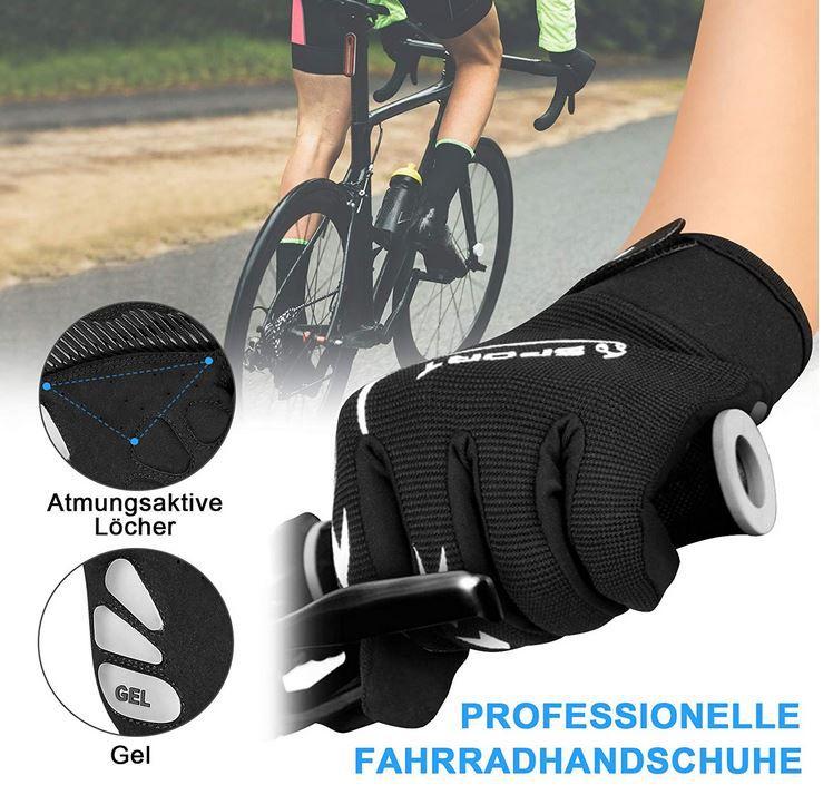 Yobenki Unisex Fahrrad Handschuhe Touchscreen geeignet für 7,99€ (statt 16€)   Prime