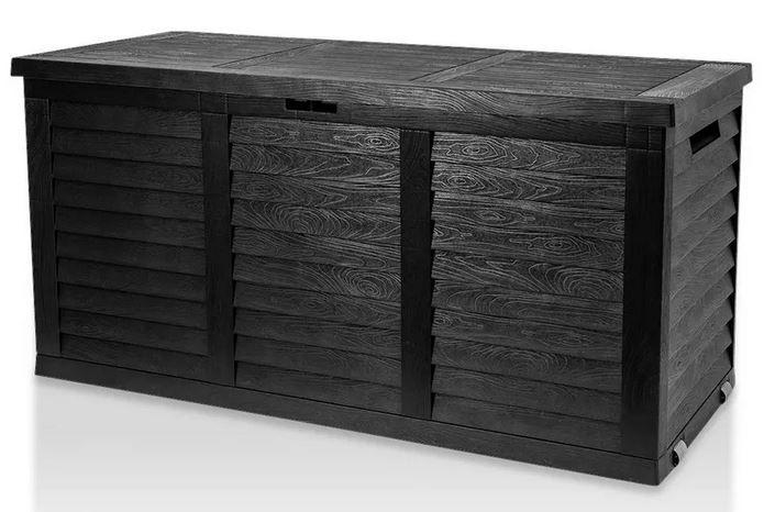 modern living Hippo graue Kissenbox Holzoptik für 27,96€ (statt 46€)