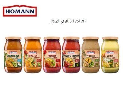 Kochsoßen von Homann kostenlos ausprobieren