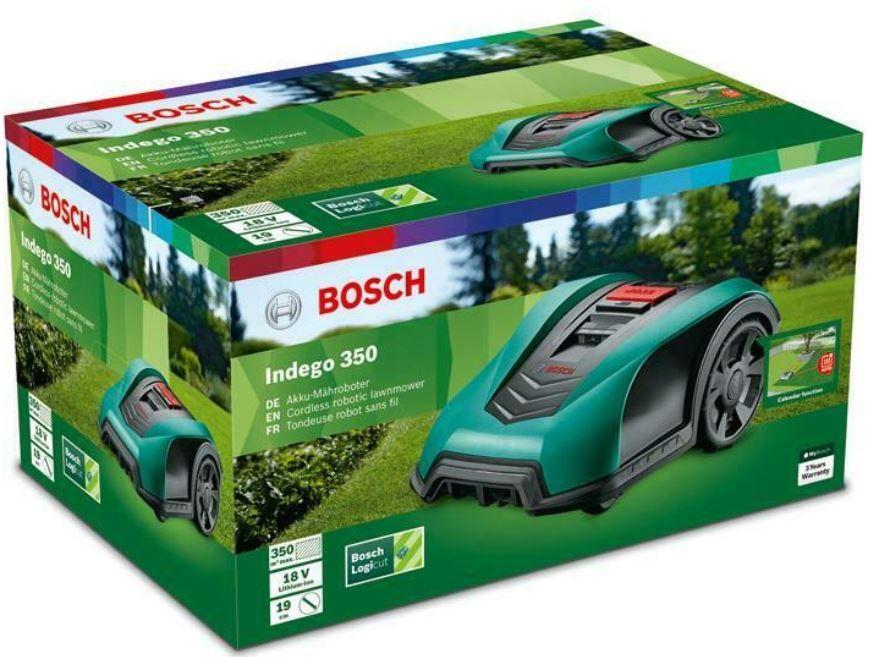 Bosch Indego 350 Rasenmäherroboter mit Alexa bis zu 350qm für 549€ (statt 669€)