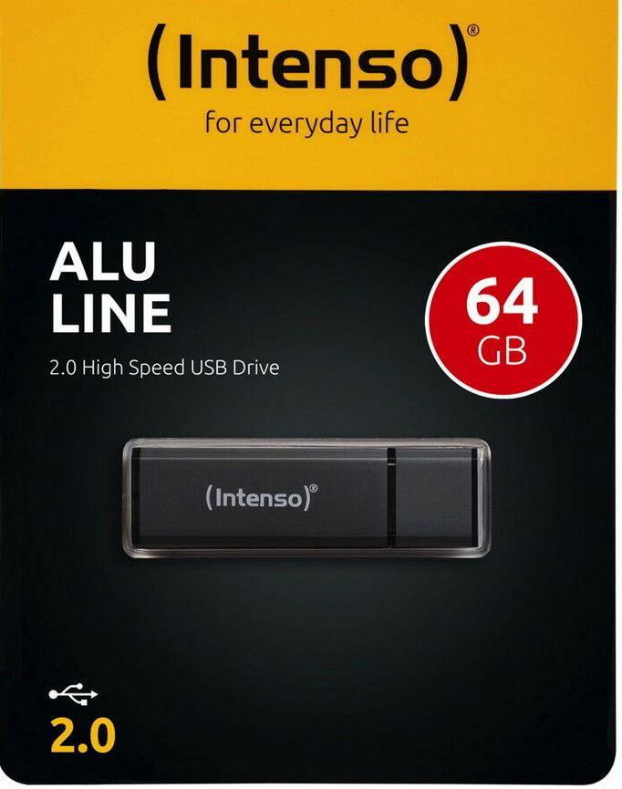 Intenso Alu Line USB2 64GB Speicherstick für 6,99€ (statt 9€)